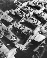 Asisbiz Grumman F4F 3 Wildcats from VF 6 aboard CV 6 USS Enterprise Marcus Island 12th May 1942 01