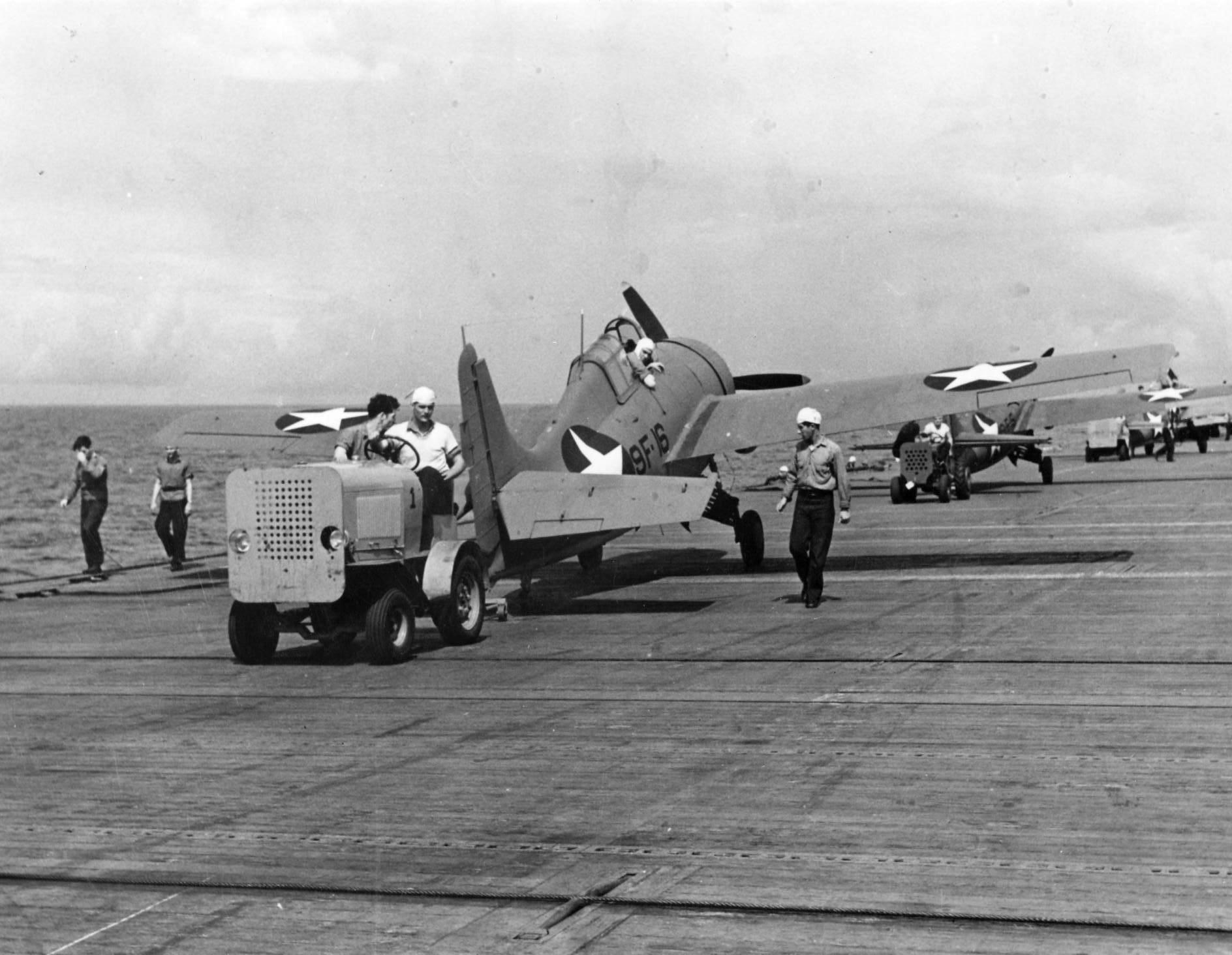 Grumman F4F 4 Wildcat VF 9 Black 9F16 and 9F5 aboard CV 4 USS Ranger Oct 1942 01