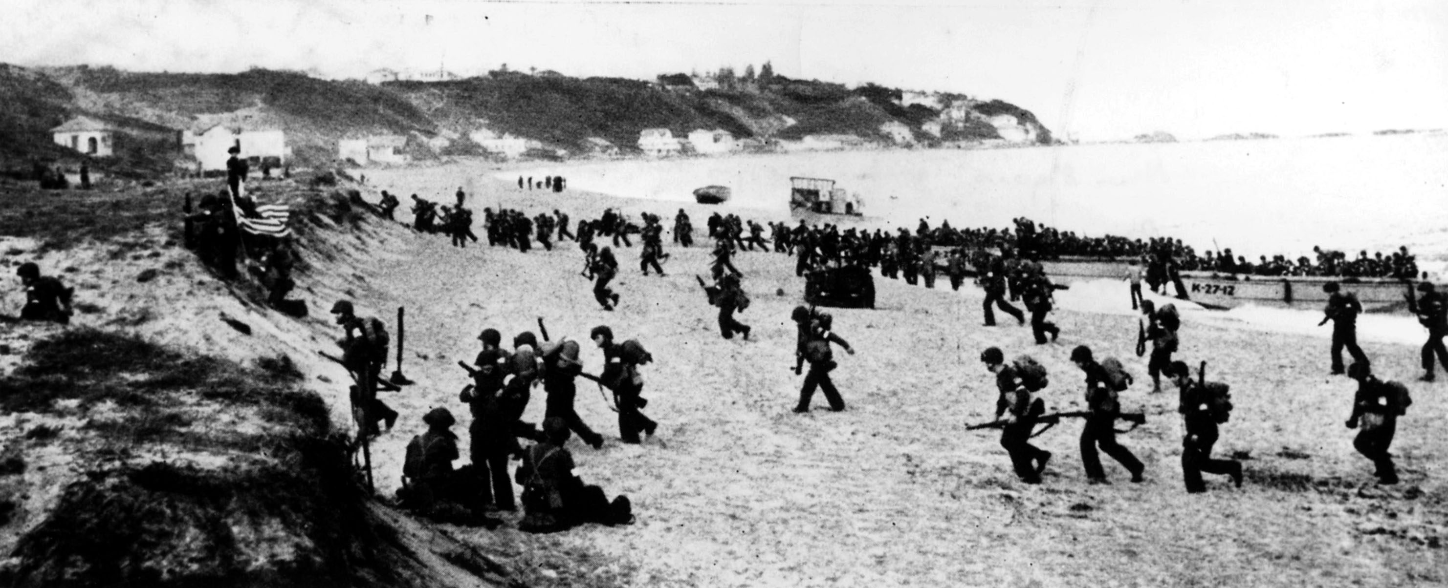 Torch troops hit the beaches