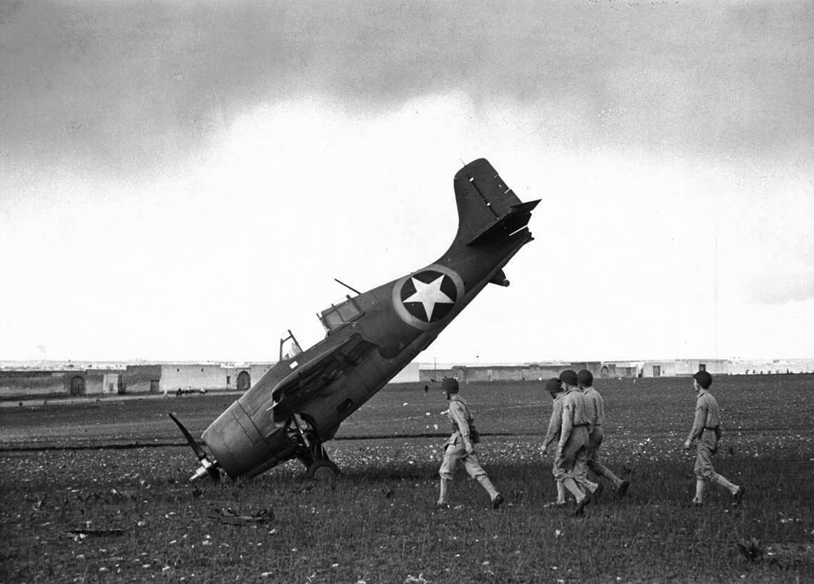 FM 2 Wildcat Operation Tourch landing accident Morocco 1942 01