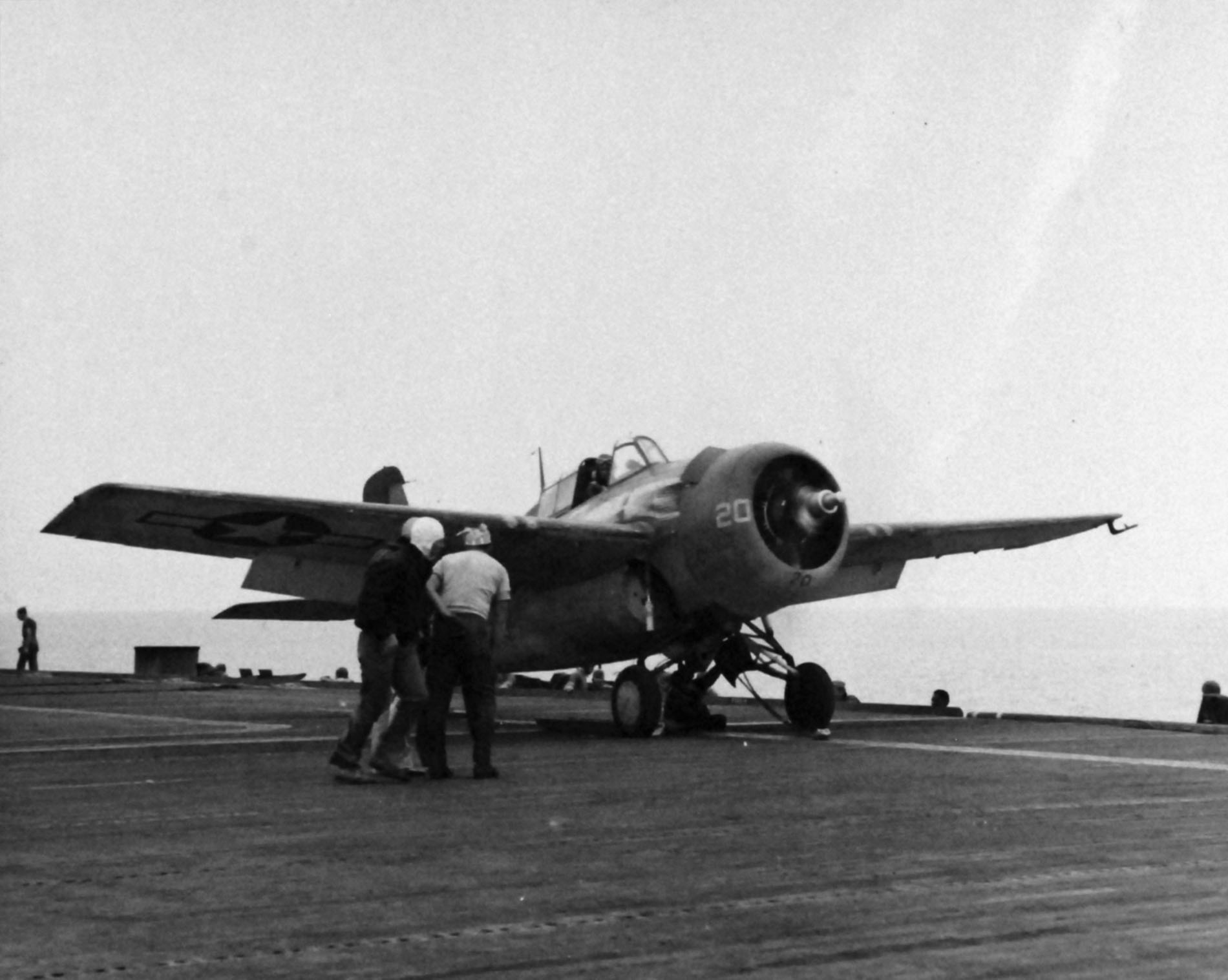 FM 2 Wildcat White 20 being readied for catapult launch 01