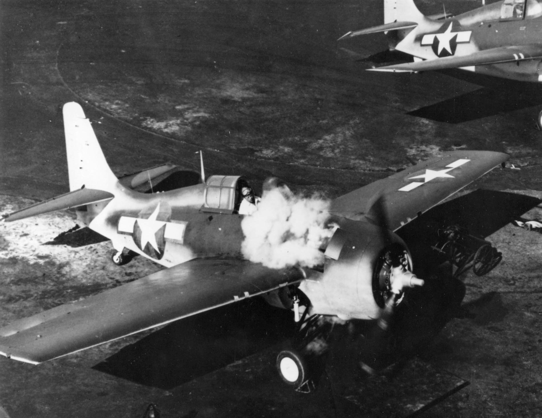 FM 2 Wildcat with engine fire always a major concern 01