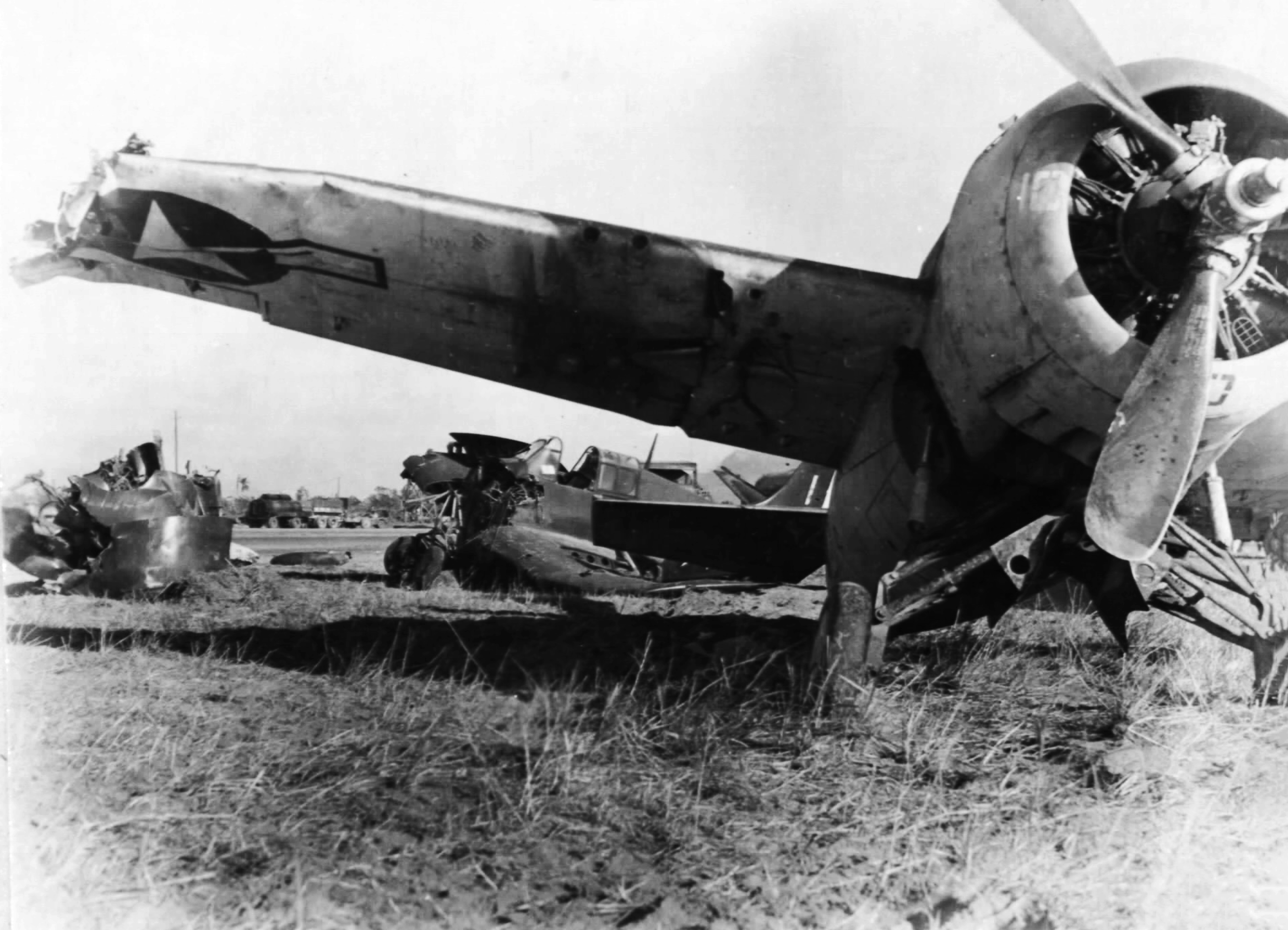 FM 2 Wildcat wreckage at Leyte PI 01
