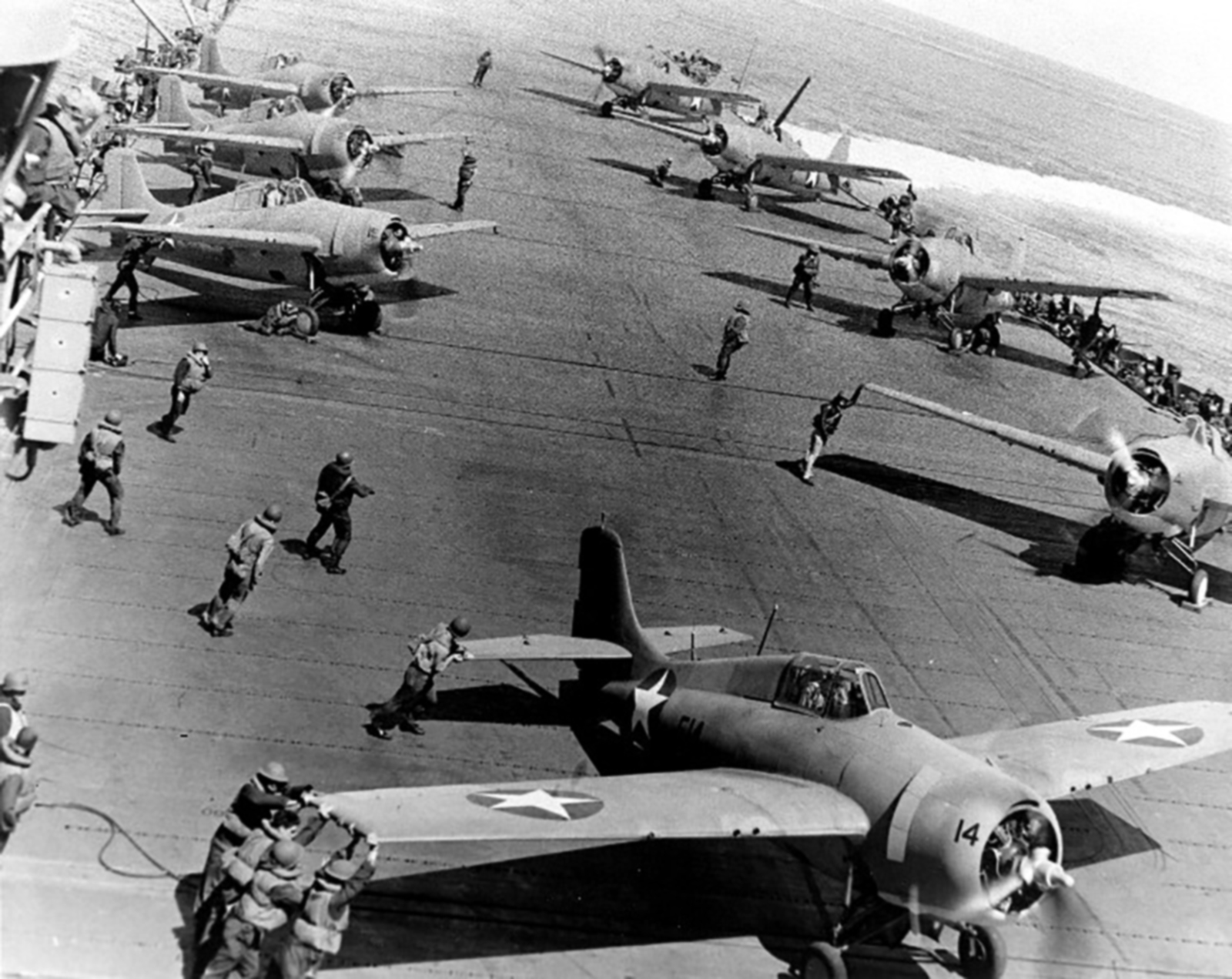Grumman F4F 3 Wildcat Black 14 aboard CV 16 USS Lexington 1944 01