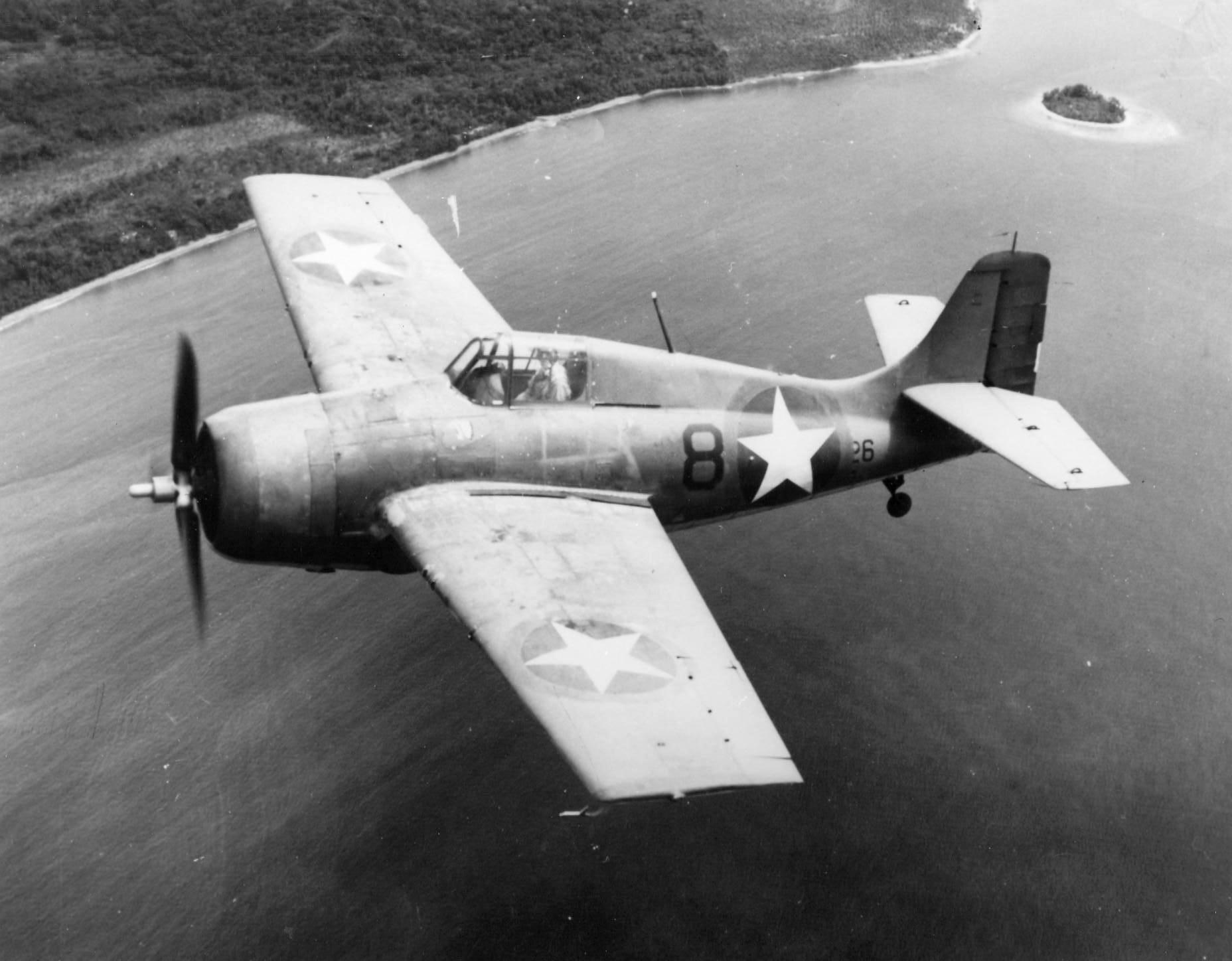 Grumman F4F 3 Wildcat VGF 26 Black 8x26 in Operation Torch marking 11942 01