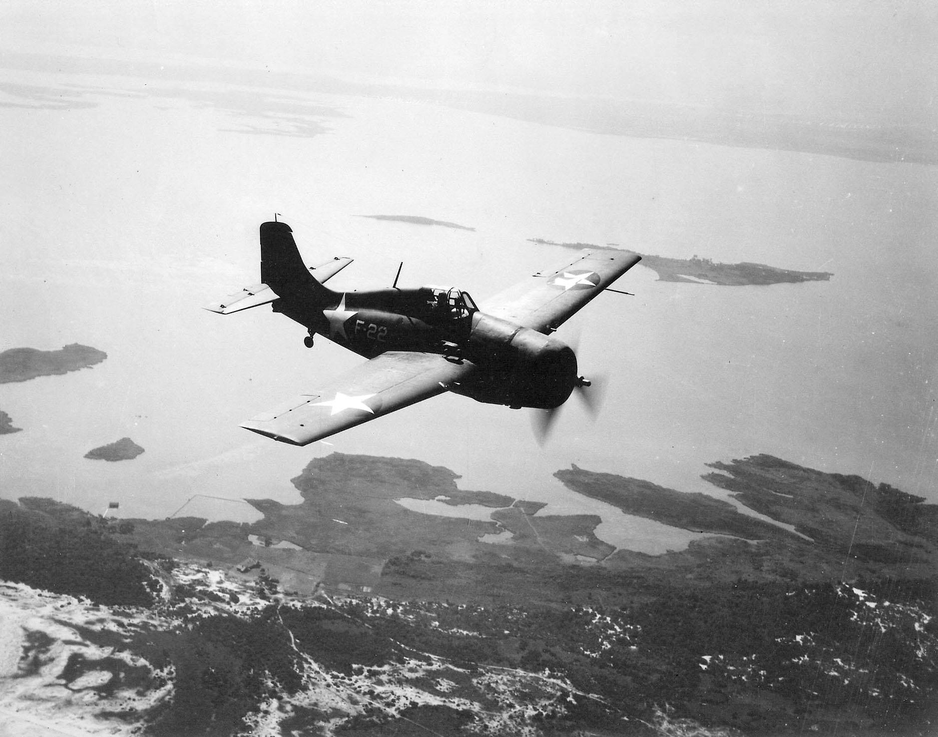 Grumman F4F 3 Wildcat White F22 in flight 01