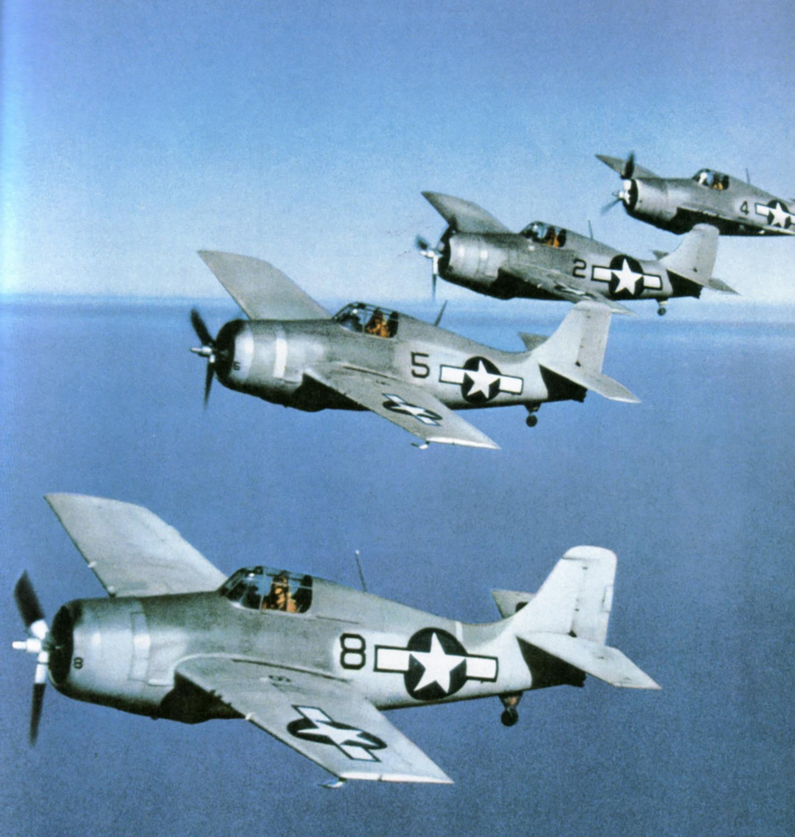 Grumman F4F 4 Wildcat Black 8, 5, 2 and 4 painted in the Atlantic scheme 01