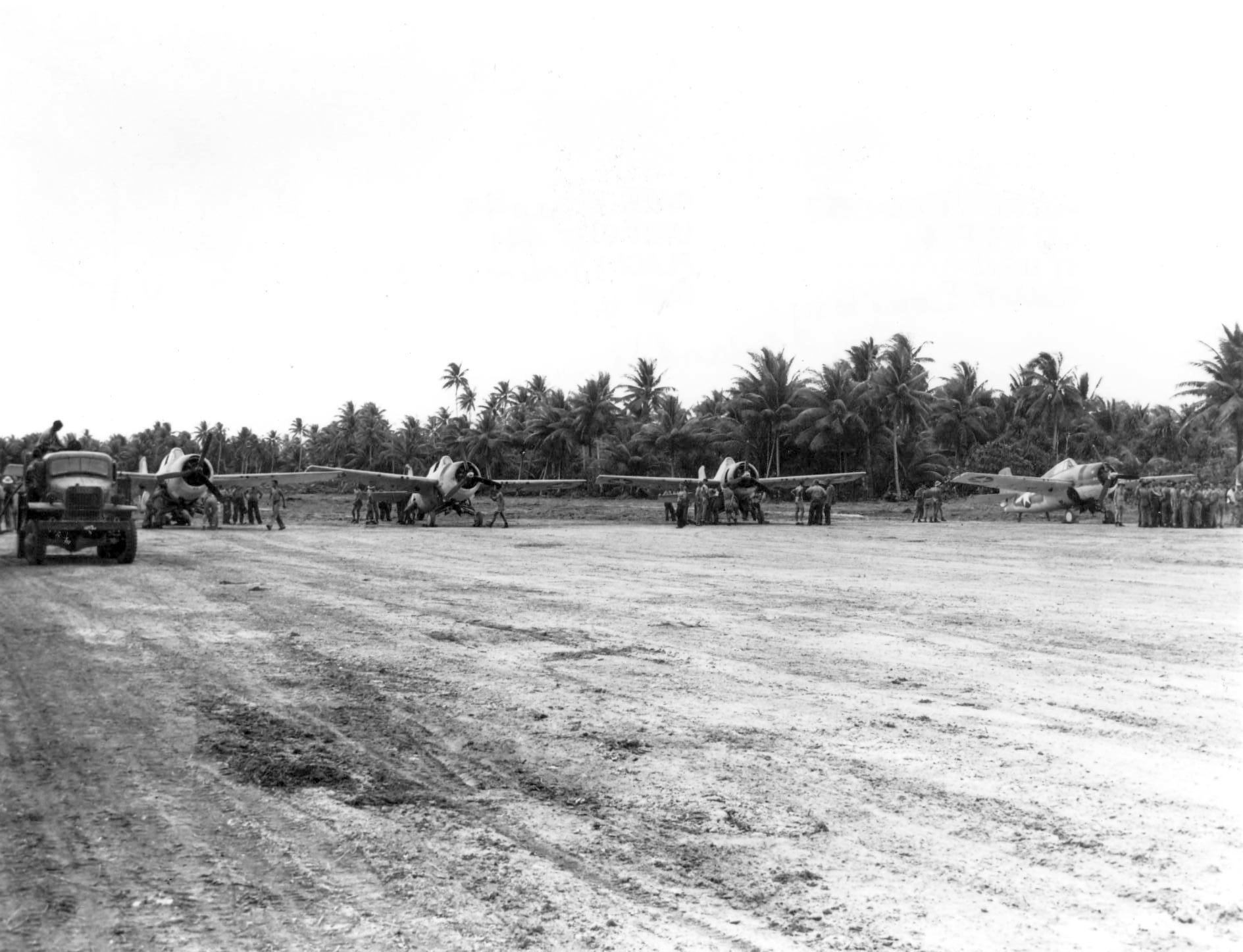 Grumman F4F 4 Wildcats VMF 441 on Nanumea Airfield Ellice Islands 23rd Oct 1943 02