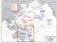 Asisbiz A Map WWII showing Battle of the Coral Sea and Battle of Midway 1942
