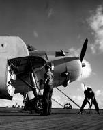 Asisbiz Aircrew TBF Avenger pilot Ensign R K Rountree Avenger on deck photo series April 1944 02