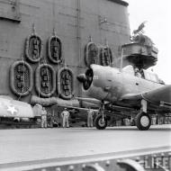 Asisbiz Douglas SBD 3 Dauntless White 20 taxing aboard a USS Carrier Sep 1942 01