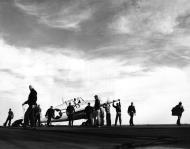 Asisbiz FM 2 Wildcat Black 20 being prepared for launch 30th April 1944 01
