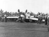 Asisbiz FM 2 Wildcat VC 3 White 3 landing mishap CVE 68 USS Kalinin Bay 29th June 1944 01