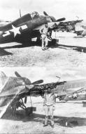 Asisbiz FM 2 Wildcat VC 68 LTJG Bob Hoppe and his damaged aircraft from CVE 70 USS Fanshaw Bay 01