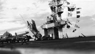 Asisbiz FM 2 Wildcat VC 81 White 11 landing mishap CVE 62 USS Natoma Bay 1944 01