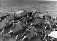 Asisbiz FM 2 Wildcat VC 96 White 2 and 90 with TBM 3 Avengers CVE 81 USS Rudyerd Bay 1945 01