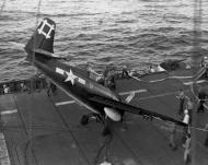 Asisbiz FM 2 Wildcat VC 96 White 9 landing mishap CVE 81 USS Rudyerd Bay 1st Apr 1945 01