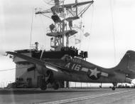Asisbiz FM 2 Wildcat White A16 preparing to launch CVE 101 USS Matanikau c 1945 01