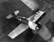 Asisbiz Grumman F4F 3 Wildcat Black F10 on deck showing early camuflage scheme c 1942 01