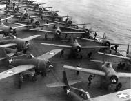 Asisbiz Grumman F4F 3 Wildcats Black F24 F20 and F22 aboard CV 12 USS Hornet 4th Jun 1942 01