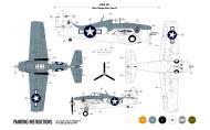 Asisbiz Grumman F4F 4 Wildcat VC 12 Black 3 aboard CV 13 USS Core 1944 0A