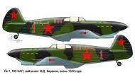 Asisbiz Yakovlev Yak 1 183IAP 269IAD Red 1 flown by Mikhail D Baranov Stalingrad front 1942 0D