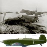 Asisbiz Yakovlev Yak 1 255IAP White 21 pilot AP Gorbachev takeoff crash Northern Fleet 19th Apr 1943 01