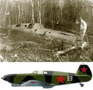 Asisbiz Yakovlev Yak 1 562IAP 6IAK Silver 29 force landing by pilot IN Kalabushkin Moscow 1943 01