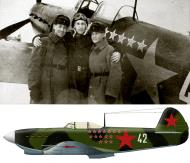 Asisbiz Yakovlev Yak 1B 148GvIAP 106IAD Silver 42 with Petr Ivanovich Shavurin (C) Borisoglebsk 1943 0B