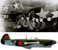 Asisbiz Yakovlev Yak 1B 156GvIAP 203IAD eagle emblem Lt Cmdr JN Kutihinym at Oryol 14th Aug 1943 0C
