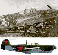 Asisbiz Yakovlev Yak 1B 156GvIAP 203IAD eagle emblem Lt Cmdr JN Kutihinym at Oryol 14th Aug 1943 0D