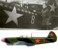 Asisbiz Yakovlev Yak 1B 34IAP Red 8 with ace SnrLt VF Korobov at Moscow PVO area spring 1943 01