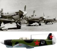 Asisbiz Yakovlev Yak 1B 3GvIAP White 47 and 24 Nikolai P Kucherov Lavensaari airfield Jul Aug 1943 0A