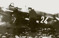 Asisbiz Yakovlev Yak 1B 774IAP 282IAD White 24 slogann Kalinin commune with NI Sysoev Poland 1945 01