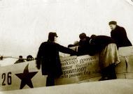 Asisbiz Yakovlev Yak 1B 845IAP 288IAD Red 26 slogan farmers of the Voroshilov Balakovo region Sar area 1943 02
