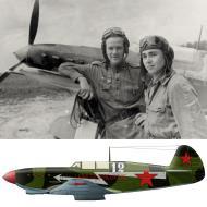 Asisbiz Yakovlev Yak 7B 18GvIAP White 12 Lt D Lobashev and his wingman Lt N Pinchukat Znamenka Aug 1943 0A