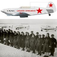 Asisbiz Yakovlev Yak 7B 18GvIAP slogan Latvian Shooter winter 1943 0A