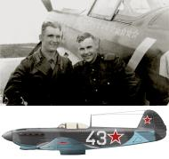 Asisbiz Yakovlev Yak 9 163IAP 336IAD Silver 43 with Anatoly Sergeevich Morozov Baltic Front 1944 0B