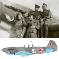 Asisbiz Yakovlev Yak 9 535IAP 32IAD White 92 bird emblem Far Eastern Front 1945 02
