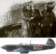 Asisbiz Yakovlev Yak 9 586IAP 318IAK Blue 64 pilots A Polyantseva,G Burdina,M Batrakova 01