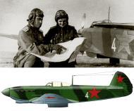 Asisbiz Yakovlev Yak 9 586IAP 318IAK White 4 with Maj AV Gridnev n JrLt VM Lisitsyn Saratov region 1943 01