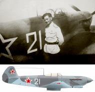 Asisbiz Yakovlev Yak 9 628IAP 10IAK White 21 with Vladimir Nikitovich Abramov Southern front 1944 01