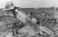Asisbiz Yakovlev Yak 9 wrecked during landing but structurally intact to allow its pilot to survive unhurt 01