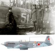 Asisbiz Yakovlev Yak 9D 21IAP White 51 flown by Cmdr PI Pavlova Baltics 1944 0A