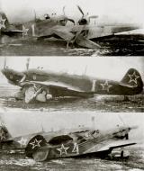 Asisbiz Yakovlev Yak 9D 6GvIAP VVS ChMF White 1 and 4 ground accident at Adler airfield 01