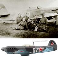 Asisbiz Yakovlev Yak 9M 728IAP 256IAD Silver 67 with ace Lt Andrey Ignatievich Kachkovsky Poland 1944 01