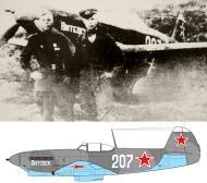 Asisbiz Yakovlev Yak 9M 761IAP 259IAD White 207 Slogan Vitebsk with unknown pilots Baltic Front 01