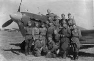 Asisbiz Yakovlev Yak 9R 93OKRAP group photo April 1945 01