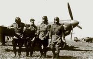 Asisbiz Yakovlev Yak 9T 15IAP White 18 foreground with MS Nikolaevich (2L) Yak 1B White 32 1944 01