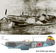 Asisbiz Yakovlev Yak 9T 53IAP 181IAD White 87 slogan Workers of the Eagle Ukrainian front 1944 0B